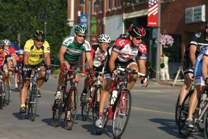 bike race through downtown Grinnell