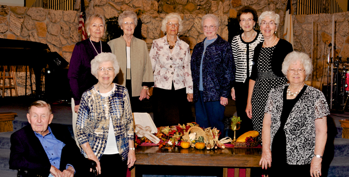 There are still 19 living charter members of the original 55.  Nine of them were able to make it to the celebration on September 21st.  Pictured from left to right - Don & Jane Thompson, Joan Wittrup, Joann Andersen, Colleen Wiley, Violet Seehorn, Deloris Lang, Lucy Green & Norma Lang.