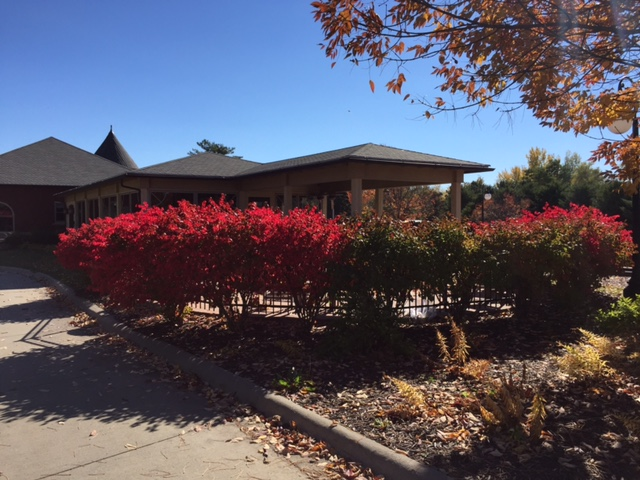 Beautiful fall colors surrounding The Peppertree at the Depot Crossing Station