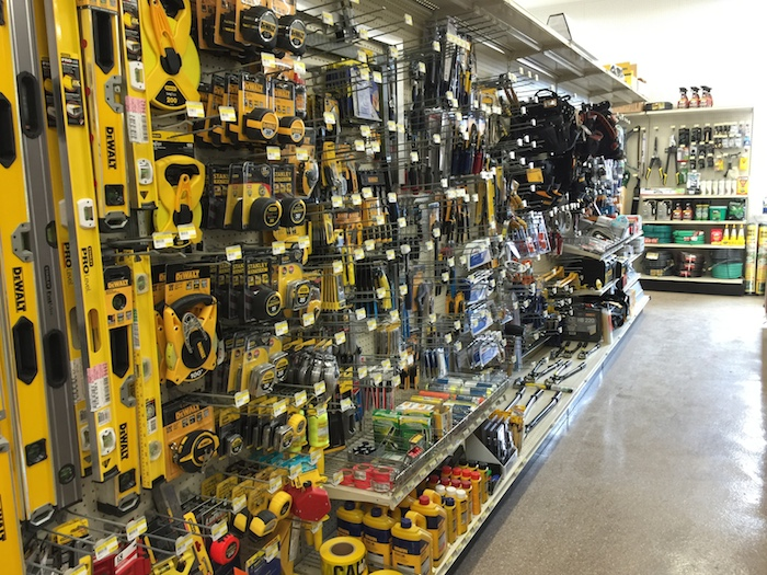 Isles and isles of tools and products for building needs