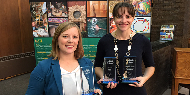 Grinnell Chamber Sweeps Iowa Tourism Conference in Council Bluffs With 4 of 12 Awards