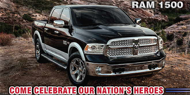 Help Honor Our Local Heroes – Test Drive a RAM November 11th
