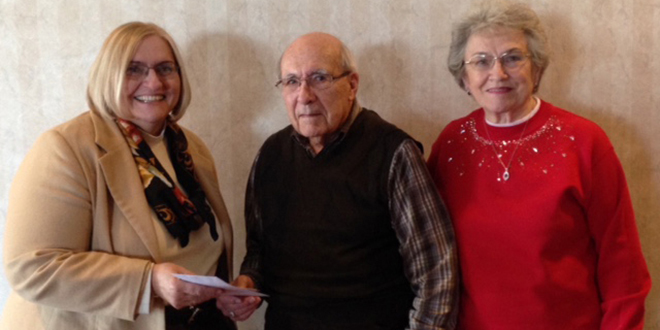 Beryl Wellborn and wife, Deena, present a check to MaryAnne Nickle, Dean of Iowa Valley Grinnell, last week in honor of Beryl's 90th birthday. Beryl was a dedicated Board member from 1987-2006, and continues to be very passionate about education. The Beryl Wellborn Commitment to Excellence Scholarship has been helping students achieve their goals since 2006.