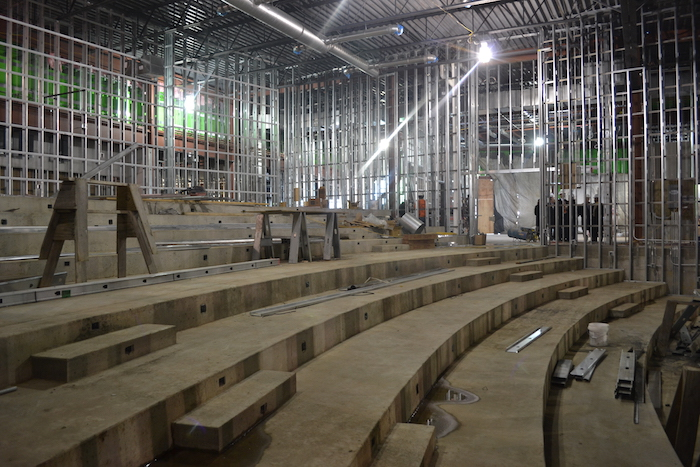 Construction is underway on the 250-seat auditorium at the heart of Grinnell Mutual's new conference center. The facility is scheduled to open in May 2015.