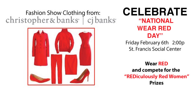 """""""National Wear Red Day®"""" Fashion Show February 6th, Public Welcome"""