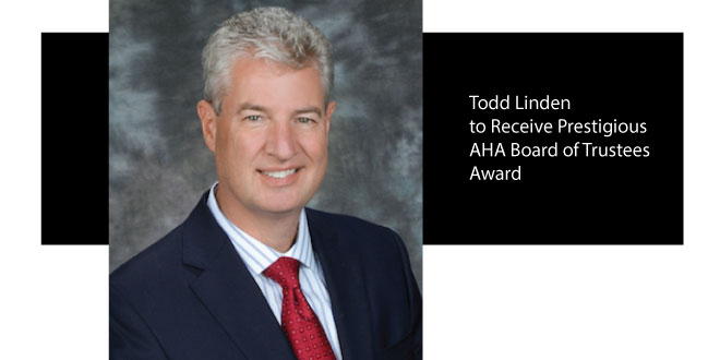 Todd Linden to Receive AHA Board of Trustees Award