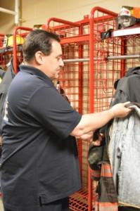 Chief Dan Sicard explains the department's turnout gear
