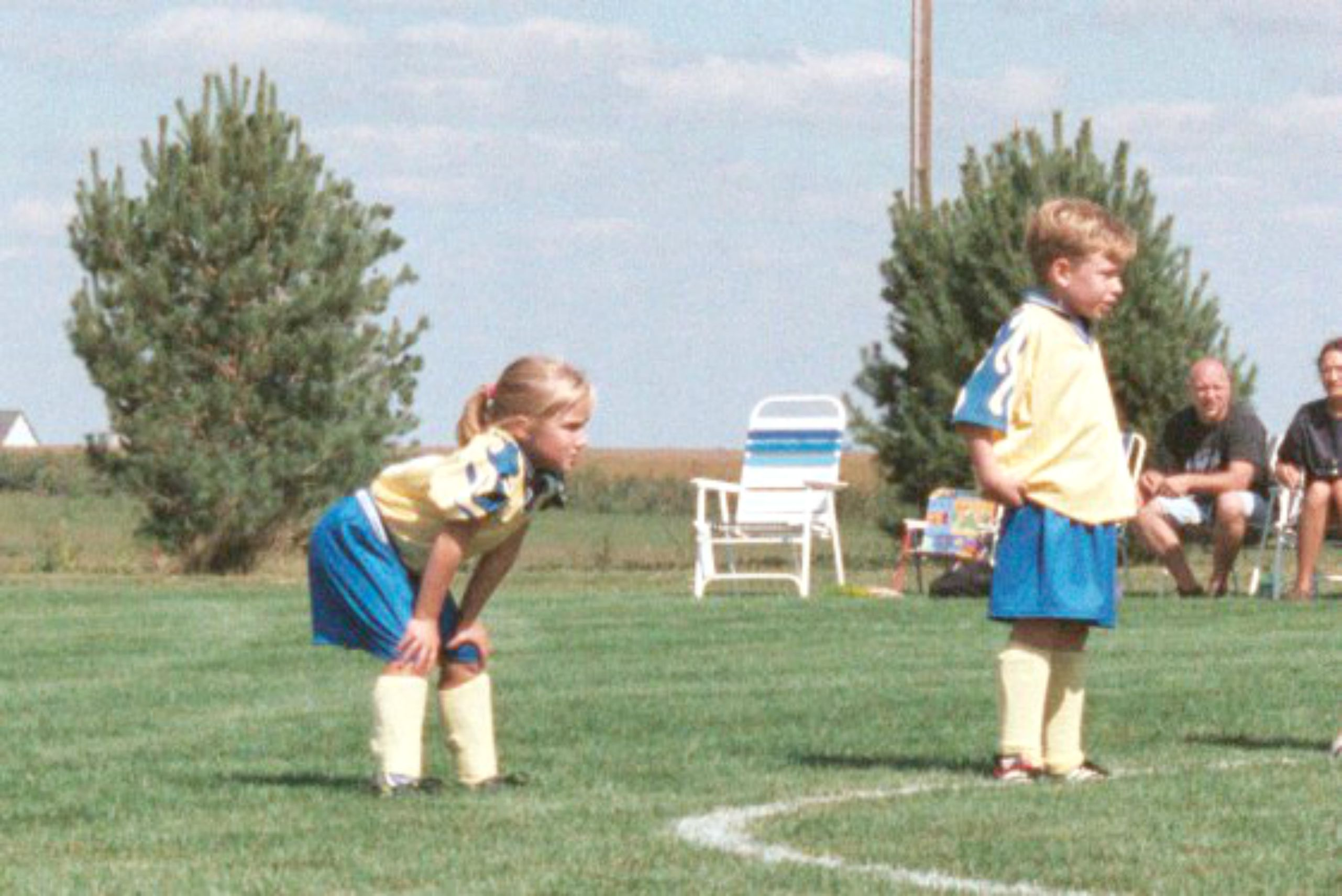 A very young Miranda Jones on the soccer field.