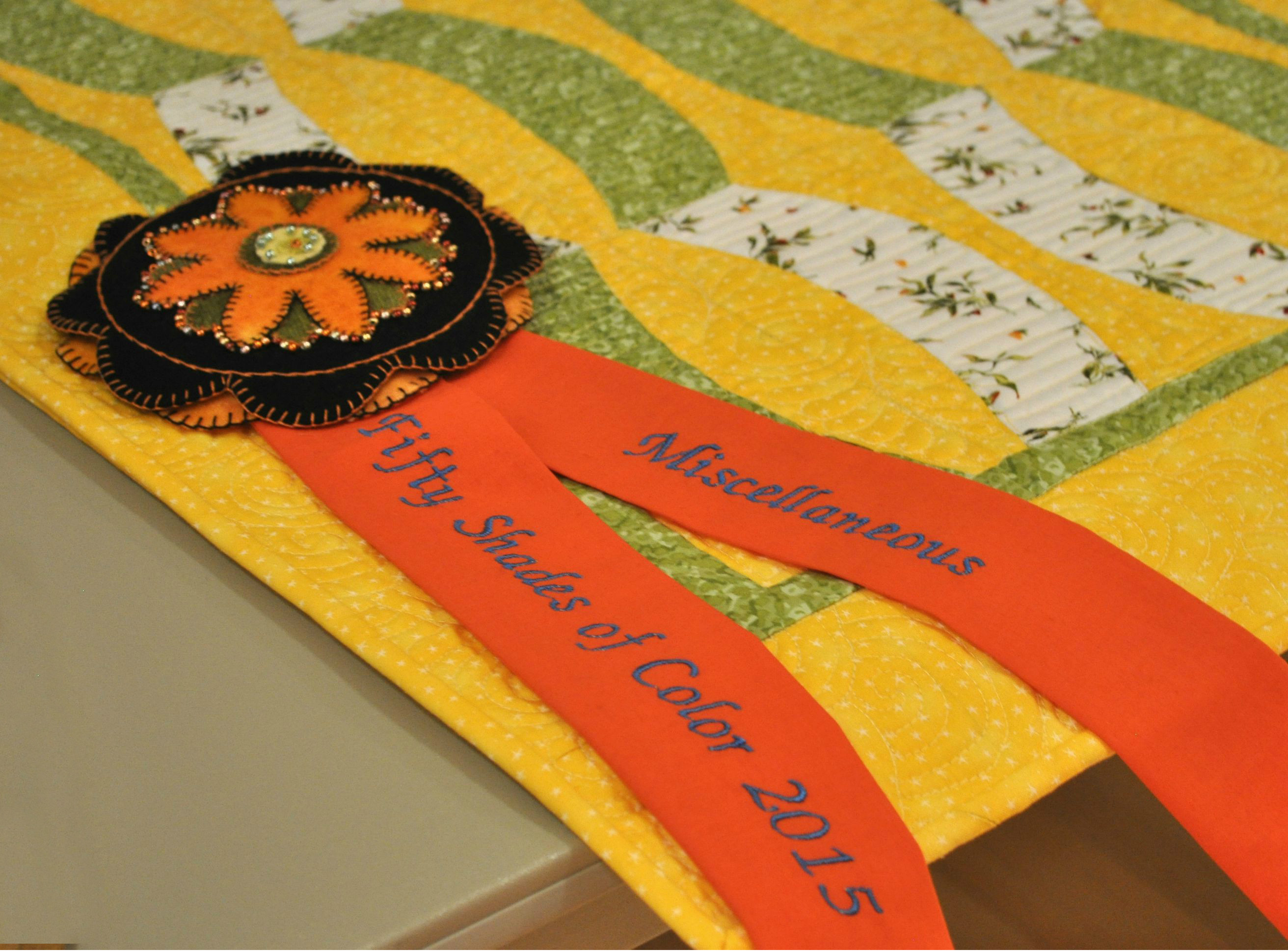The awared ribbons were made by Karen Cochran and Susie Kinney