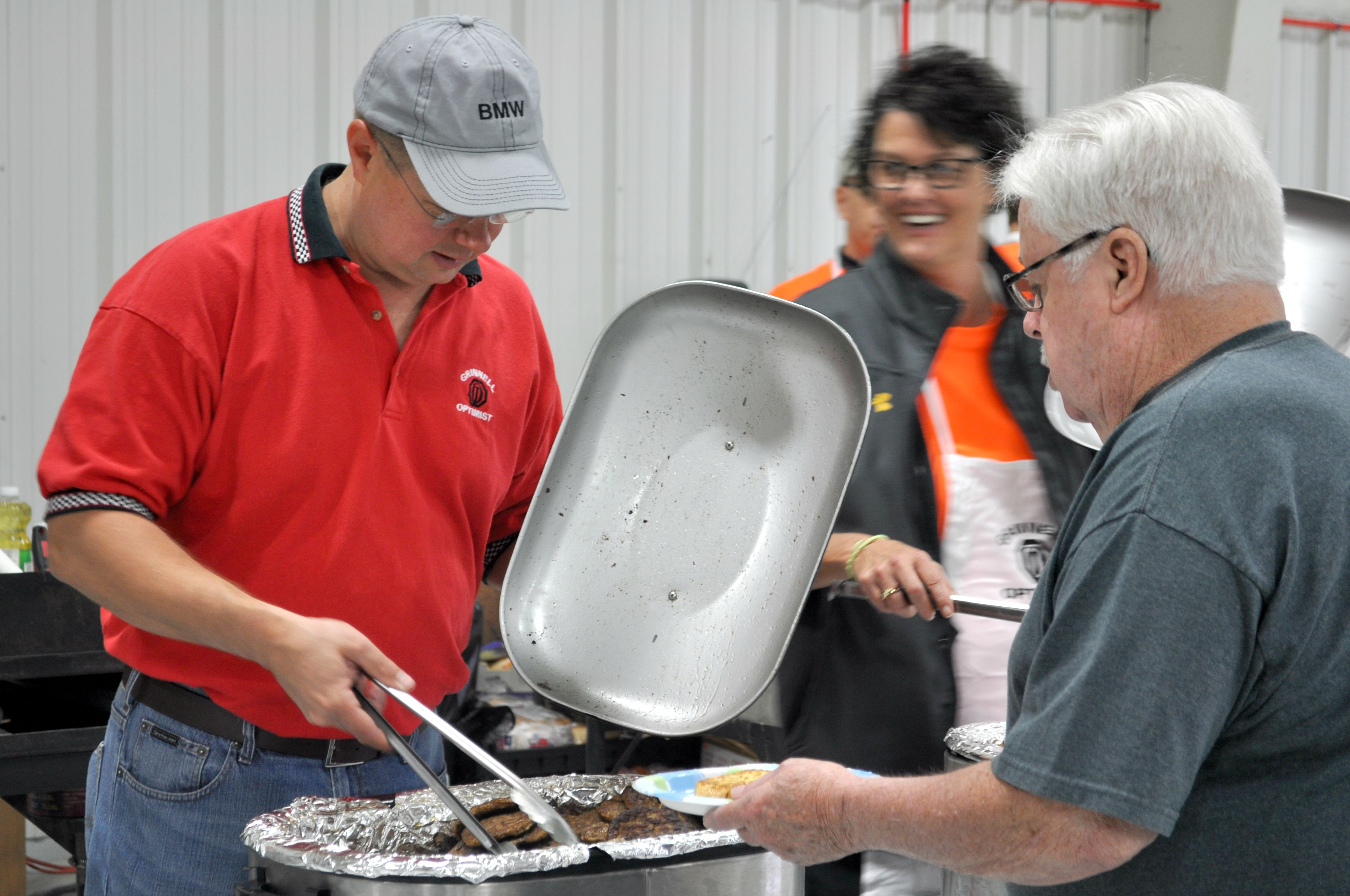 The Grinnell Optimist Club served approximately 450 people breakfast Saturday morning.