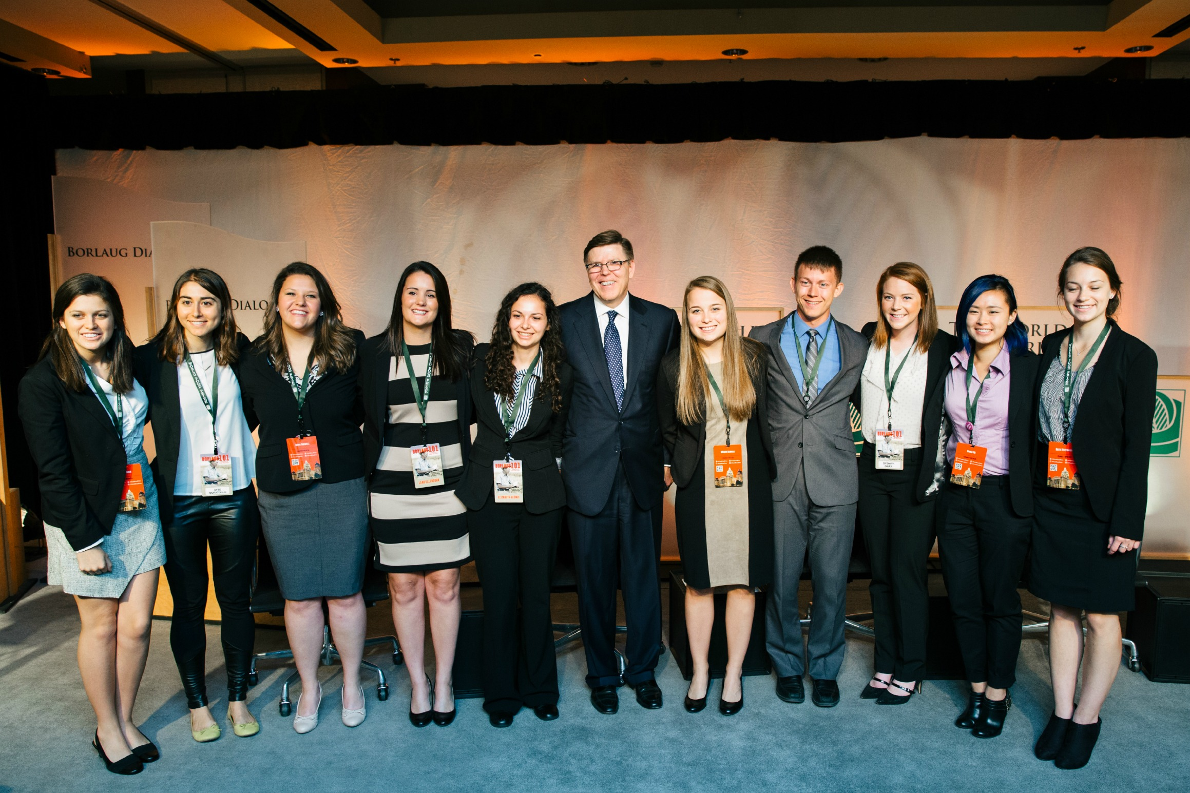 The 2015-16 Land O'Lakes Emerging Leaders for the Global Food initiative (Addison Bidwell is third from the left)