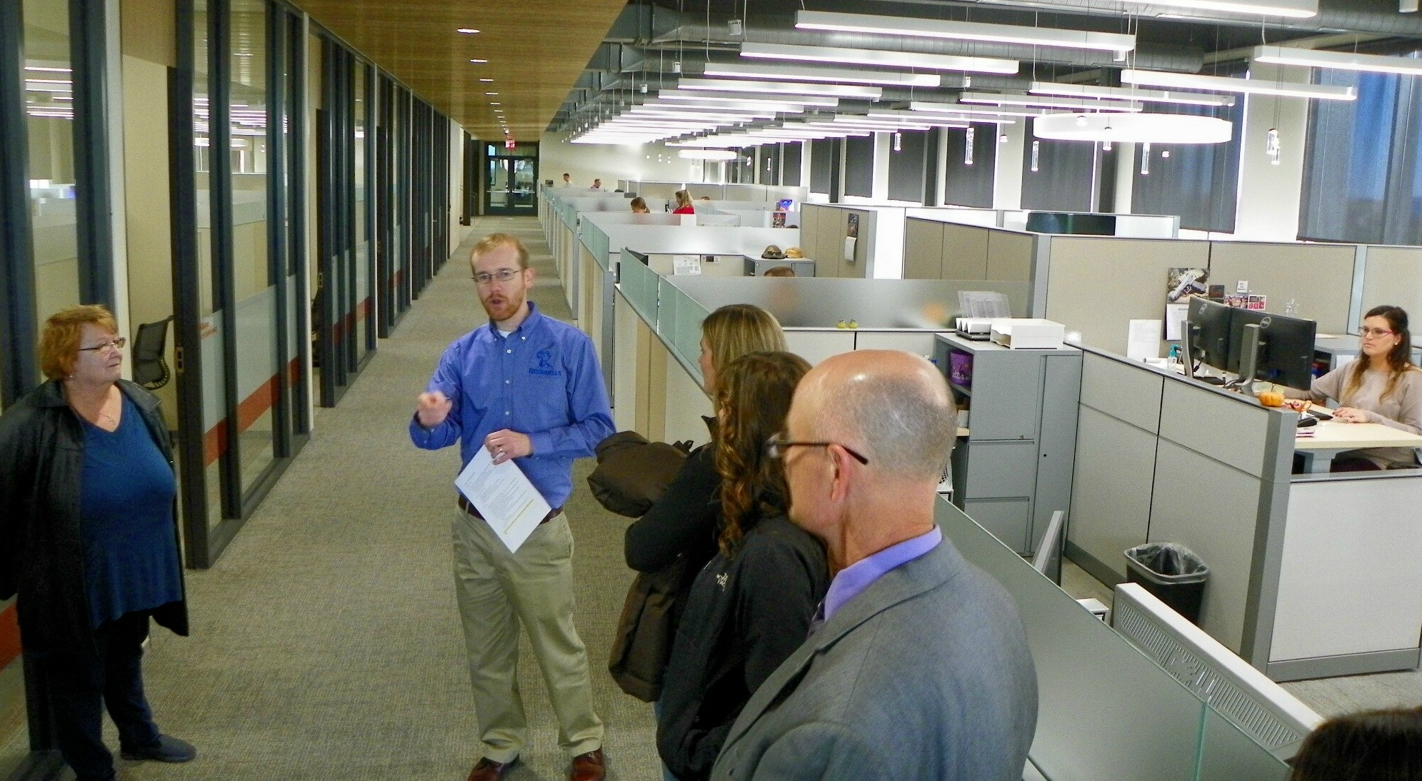 Paul Levy, merchandise manager, led one of the tours of the office area.