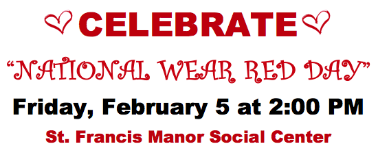 "St. Francis Manor & Seeland Park Announce a ""National Wear Red Day"" Fashion Show Open to the Public on February 5th"