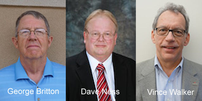 Pictured are new GPCF board members George Britton, Dave Ness and Vince Walker.