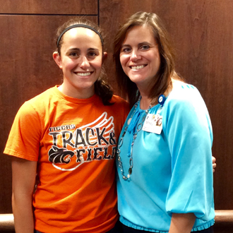 GRMC Auxiliary recognized a scholarship recipient Mariah Deppe. She and her mother, Mindy, both work at GRMC.