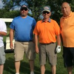 Team S&F Underground supported GRMC's golf outing. Shown from left: Kyle Kriegel, Aaron Wiegand, Jack Schmidt, and Jim Schmidt