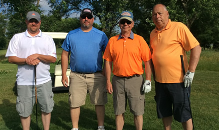 Team S&F Underground supported GRMC's golf outing. Shown from left: Kyle Kriegel, Aaron Wiegand, Jack Schmidt, and Jim Schmidt