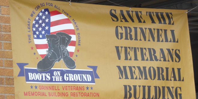 Corn, Cars, Stripes and Stars Support Grinnell's Vets Building
