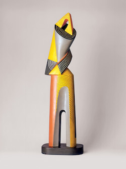 "Alexander Archipenko, ""Architectural Figure,"" 1939-1954, Painted terracotta. Alexander Archipenko © 2015 Estate of Alexander Archipenko/Artists Rights Society (ARS), New York."