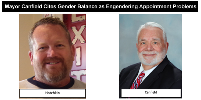 Mayor Canfield Cites Gender Balance as Engendering Appointment Problems
