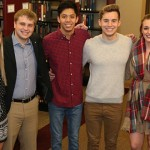 From left: seniors Miranda Jones of Grinnell, Iowa, Michelle Ravel of Monmouth, Jacob Marx of DeKalb, Ill., and Cristian Corbett 'of Roy, Utah; junior Riley Hess of University Place, Wash., and seniors Gianna Miceli of West Chicago, Ill.; and Kallie DiTusa of Johnsburg, Ill.
